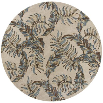 Imala Hand-Tufted Pale Gray Area Rug Rug Size: Round 76