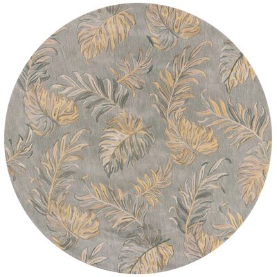 Imala Hand-Tufted Gray Area Rug Rug Size: Round 76
