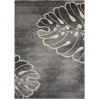 Brentford Gray Area Rug Rug Size: Rectangle 53 x 73