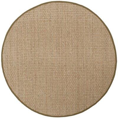 Greene Hand-Woven Beige Area Rug Rug Size: Round 6