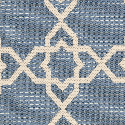 Ceri Blue/Beige Indoor/Outdoor Rug Rug Size: Rectangle 2 x 37