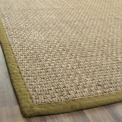 Greene Hand-Woven Olive Area Rug Rug Size: Rectangle 5 x 8