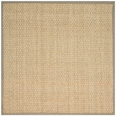 Greene Hand-Woven Beige Area Rug Rug Size: Square 6