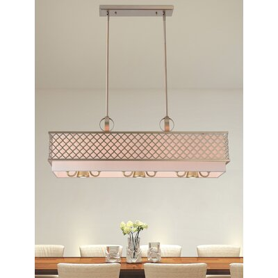 Tymvou Linear 6-Light Kitchen Island Pendant Color: Soft Gold