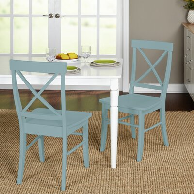 Brookwood Solid Wood Side Chair Color: Atlantic Blue