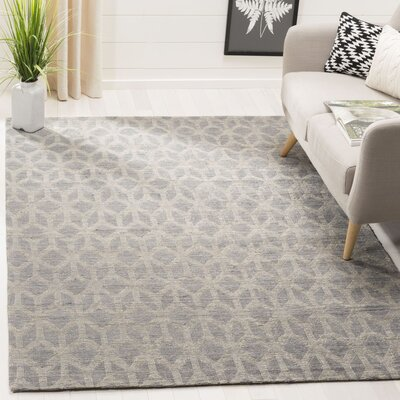 Gilchrist Hand-Woven Grey/Gold Area Rug Rug Size: Rectangle 5 x 8