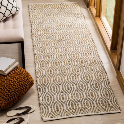 Gilchrist Hand-Woven Natural Area Rug Rug Size: Runner 23 x 8