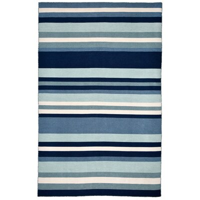 Ranier Hand-Woven Blue Indoor/Outdoor Area Rug Rug Size: Rectangle 36 x 56