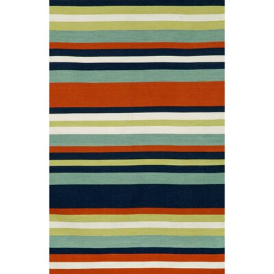 Ranier Hand-Woven Multi-Colored Indoor/Outdoor Area Rug Rug Size: Rectangle 36 x 56