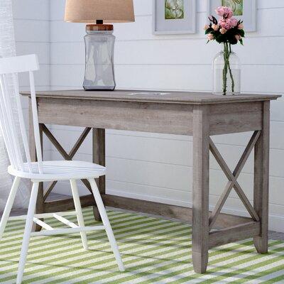 Beachcrest Home Oridatown Writing Desk Finish: Washed Gray