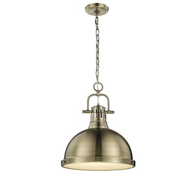 Bodalla 1-Light Inverted Pendant Finish: Aged Brass with Aged Brass Shade
