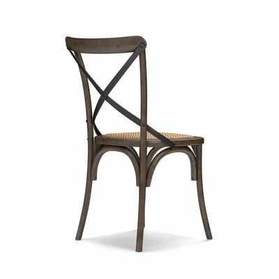 Canfield Solid Wood Dining Chair Color: Walnut