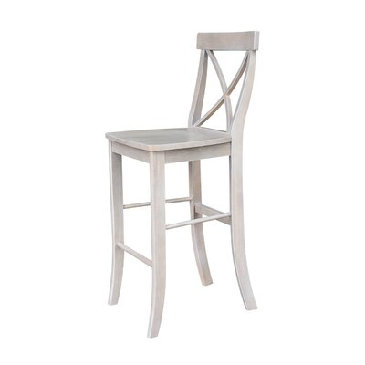 Downey 29 Bar Stool Color: Weathered Gray