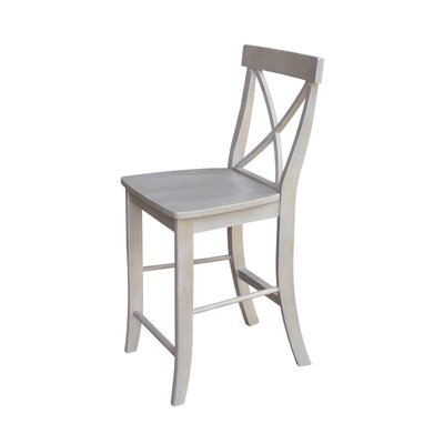 Downey 24 Bar Stool Color: Weathered Gray