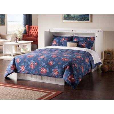 Graham Queen Murphy Storage Platform Bed with Mattress Color: White