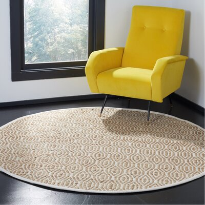 Gilchrist Hand-Woven Natural Area Rug Rug Size: Round 6