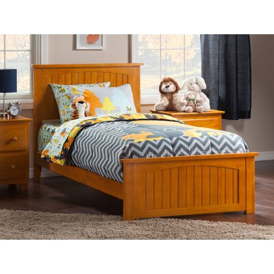 Graham Panel Bed Size: Twin XL, Color: Caramel Latte
