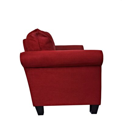 Paget Sofa Upholstery: Red