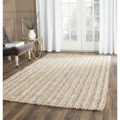 Richmond Hand-Woven Gray/Natural Area Rug Rug Size: Rectangle 5 x 8
