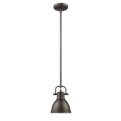 Bodalla 1-Light Bowl Metal Mini Pendant Finish: Rubbed Bronze with Rubbed Bronze Shade
