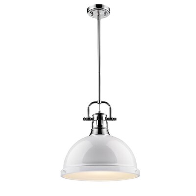 Bodalla 1-Light Mini Pendant Finish: Chrome with White Shade