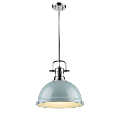 Bodalla 1-Light Mini Pendant Finish: Chrome with Seafoam Shade