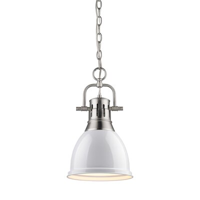 Balden 1-Light Inverted Pendant Finish: Pewter with White Shade