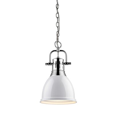 Balden 1-Light Inverted Pendant Finish: Chrome with White Shade