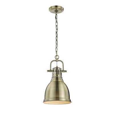 Balden 1-Light Inverted Pendant Finish: Aged Brass with Aged Brass Shade