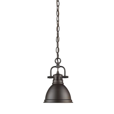 Bodalla 1-Light Mini Pendant Finish: Rubbed Bronze with Rubbed Bronze Shade