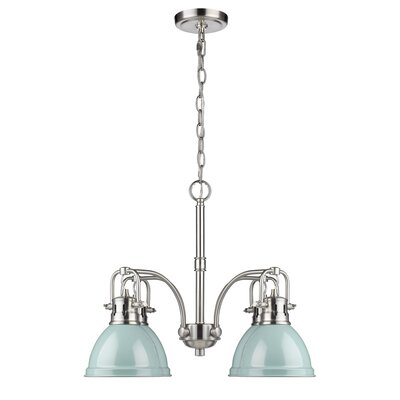 Bodalla 4-Light Shaded Chandelier Finish: Pewter with Seafoam Shade