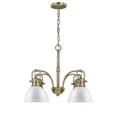 Bodalla 4-Light Shaded Chandelier Finish: Aged Brass with White Shade