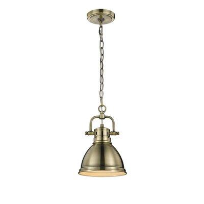 Bodalla 1-Light Mini Pendant Finish: Aged Brass with Aged Brass Shade
