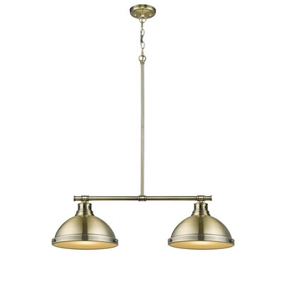 Bodalla 2-Light Kitchen Island Pendant Finish: Aged Brass with Aged Brass Shade