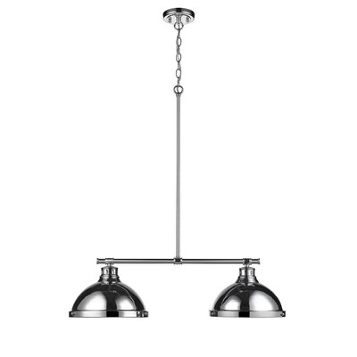 Bodalla 2-Light Kitchen Island Pendant Finish: Chrome with Chrome Shade