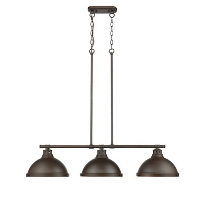 Bodalla 3-Light Kitchen Island Pendant Finish: Rubbed Bronze with Rubbed Bronze Shade