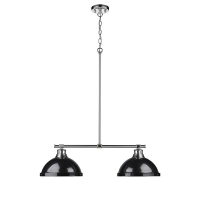 Bodalla 2-Light Kitchen Island Pendant Finish: Chrome with Black Shade