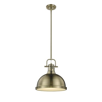 Bodalla 1-Light Pendant Finish: Aged Brass with Aged Brass Shade
