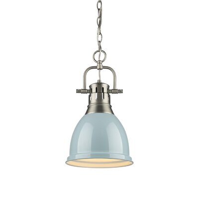 Balden 1-Light Inverted Pendant Finish: Pewter with Seafoam Shade