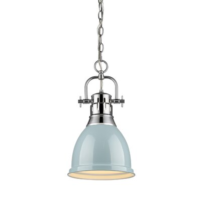 Balden 1-Light Inverted Pendant Finish: Chrome with Seafoam Shade