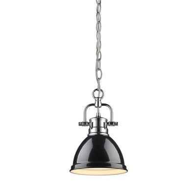 Bodalla 1-Light Mini Pendant Finish: Chrome with Black Shade