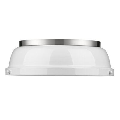 Bodalla 2-Light Dome Flush Mount Finish: Pewter with White Shade