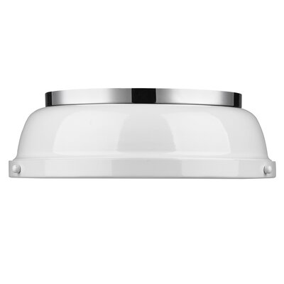 Bodalla 2-Light Dome Flush Mount Finish: Chrome with White Shade