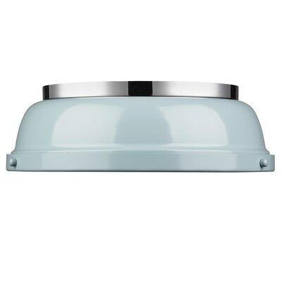 Bodalla 2-Light Dome Flush Mount Finish: Chrome with Seafoam Shade