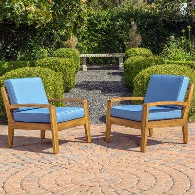 Gaia Armchair Upholstery: Blue