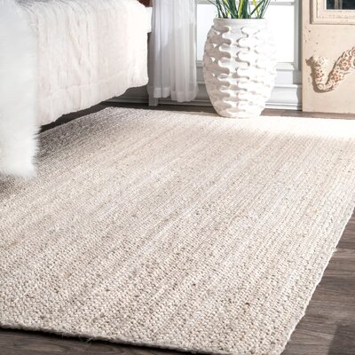 Latham Rigo Jute Hand-Woven Tan Area Rug Rug Size: Rectangle 5 x 8
