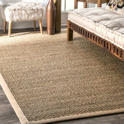 Mayfair Beige Area Rug Rug Size: Round 8