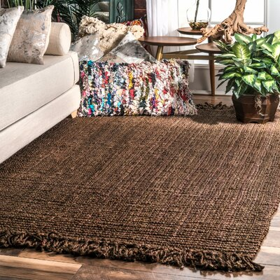 Elana Chunky Loop Chocolate Area Rug Rug Size: Rectangle 76 x 96