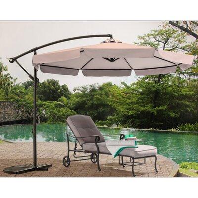 Image of Anthea 10' Cantilever Umbrella Fabric Color: Khaki