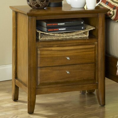 Pittsburg 2 Drawer Nightstand